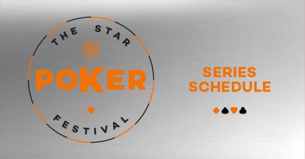 Star Poker Schedule